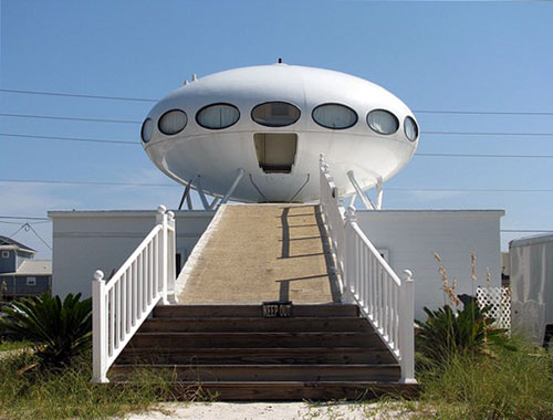 UFO Shaped Building Funny Bizarre Amazing Pictures