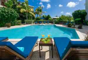 The pool easily located from any of our Anguilla 5 star resorts