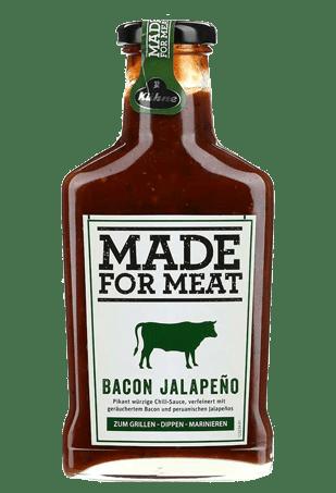 """Соус томатный с перцем Халапеньо и с беконом, KUHNE """"Made for Meat"""" Bacon Jalapeno, 375 мл"""