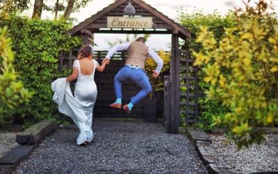 Mr and Mrs Morgan at Maidens Barn