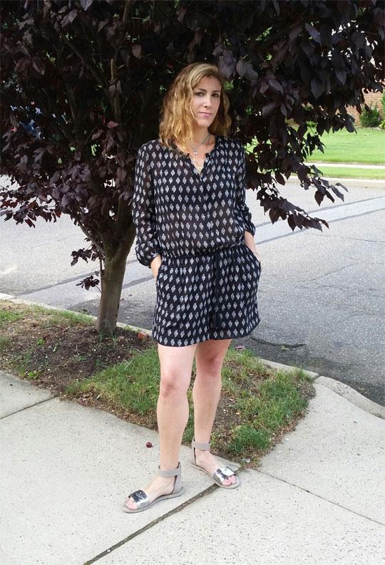 Madewell Getaway Romper, Lauren Dimet Waters, Outfit of the day
