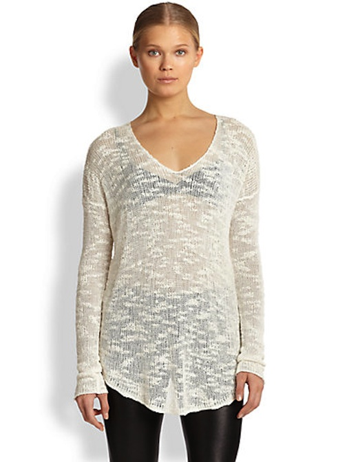 Helmut Lang, Slub Silk Knit Sweater