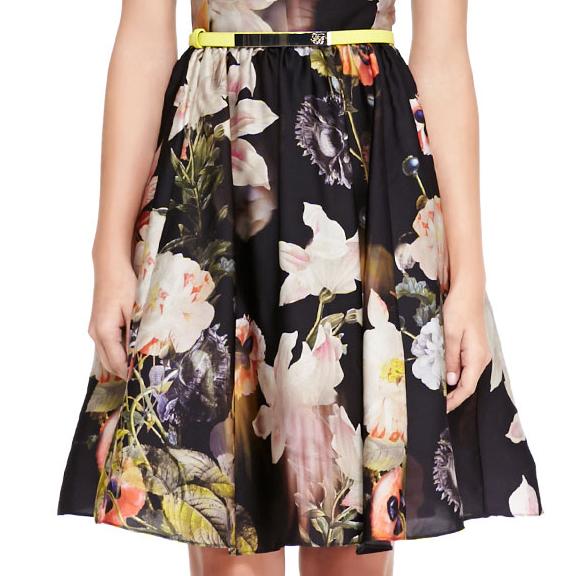 Ted Baker London Opulent Bloom Print Dress Floral