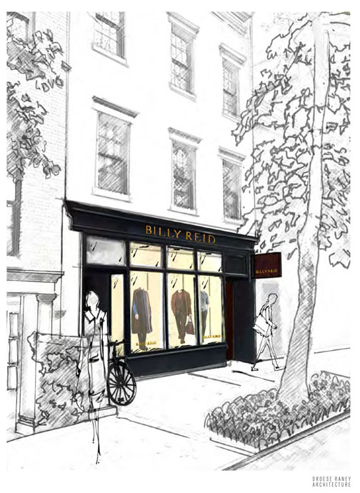 Billy Reid New York Store Sketch
