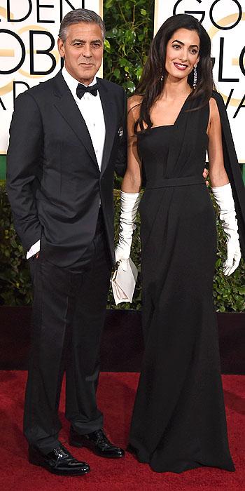 George Clooney & Amal Clooney  Amal Clooney in Dior