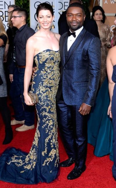 Jessica & David Oyelowo in Blue Golden Globes 2015