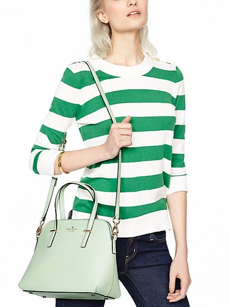 Kate Spade, Cedar Street Maise Bag, Mint Mojito, model