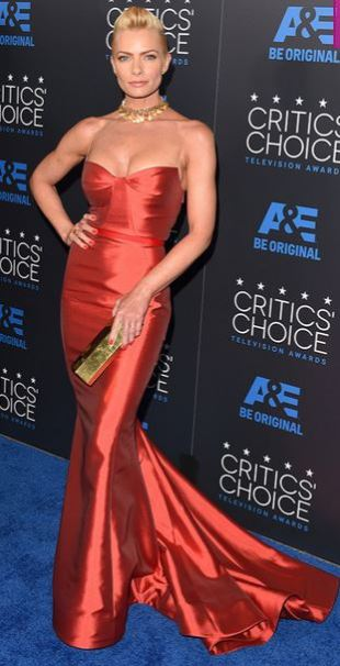 Jaime Pressly, Critics Choice TV Awards 2015,  Gustave Cadile gown