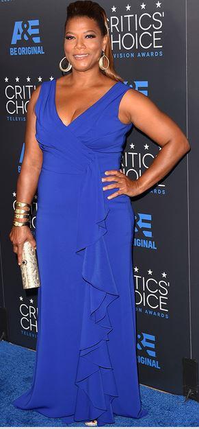 Queen Latifah, Badgley Mischka, 2015 Critics' Choice Televsion Awards