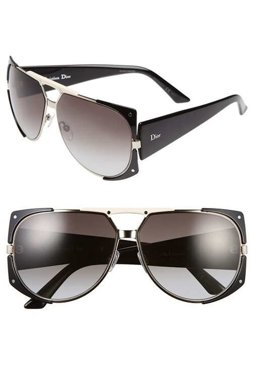 Dior, 'Enigmatic', Metal Shield Sunglasses