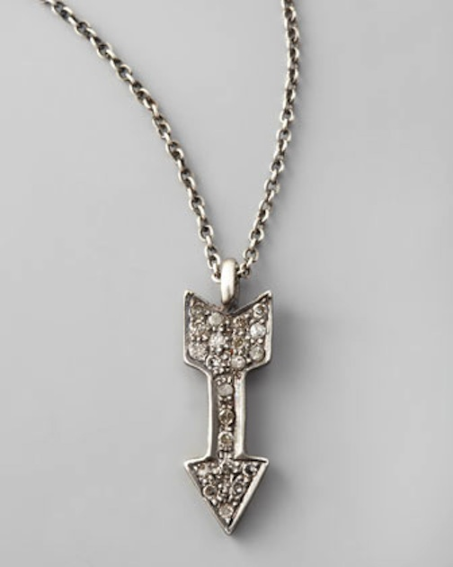 Diamond Arrow, Necklace, Silver, Pendant