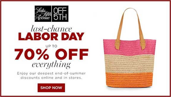 Saks Off-5th-labor Day Sale