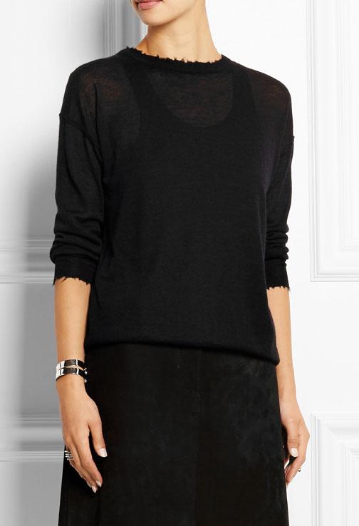 Helmut Lang, Black Cashmere Sweater