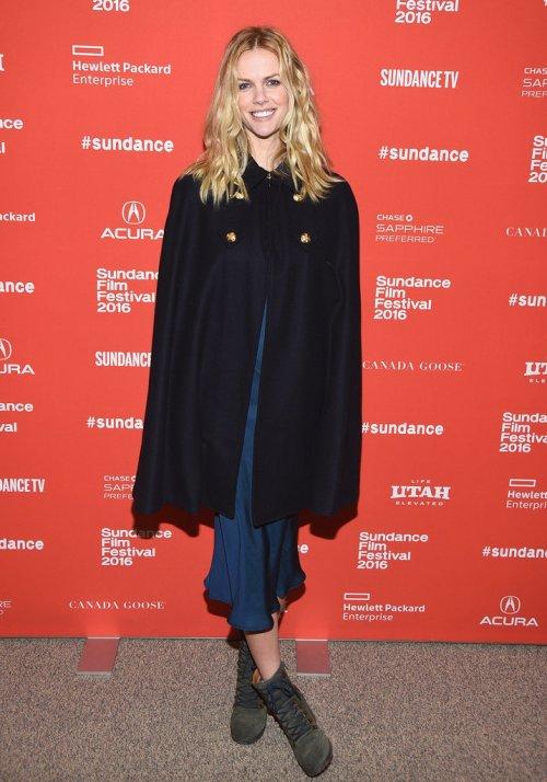 Brooklyn Decker Sundance 2016 Fashion Cape Coat
