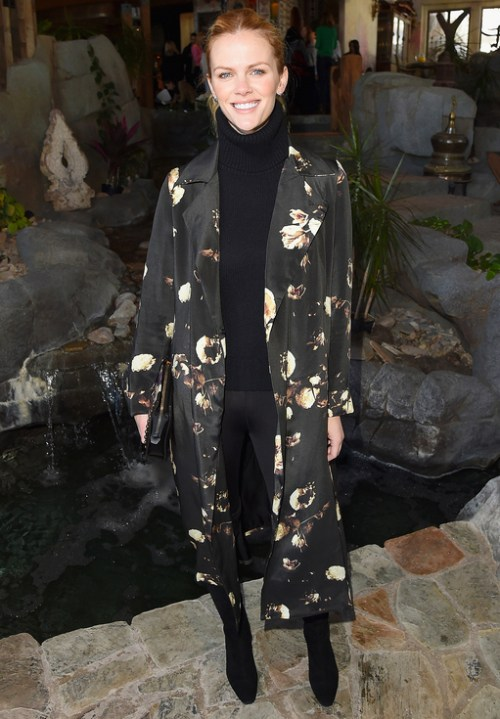 Brooklyn Decker Floral Coat