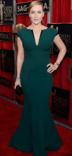 Kate Winslet in Green Armani SAG Awrads 2016