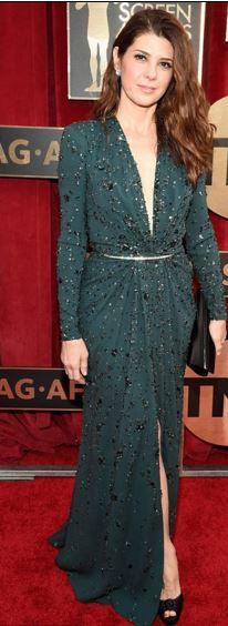 Marisa Tomei in Zuhair Murad Deep V Gown SAGs 2016