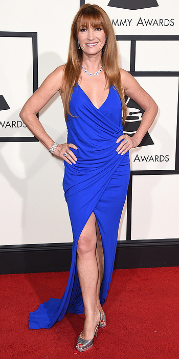 Jane Seymour Bright Blue Gown Red Carpet 2016