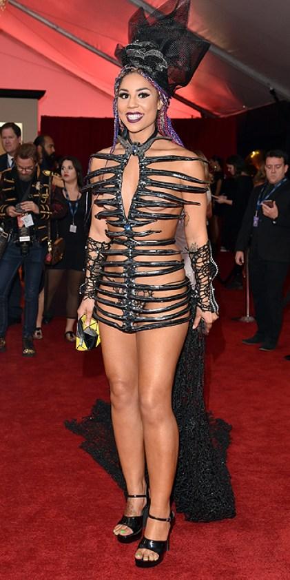 Joy Villa Naked Outfit Grammys 2016