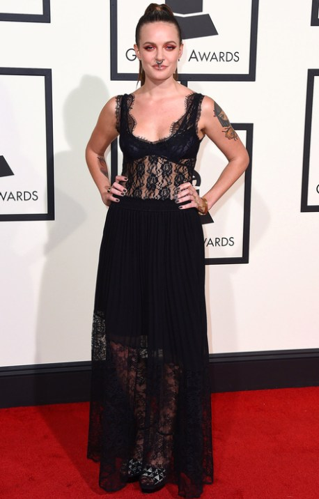Tove Lo Black Gown Grammys Red Carpet 2016