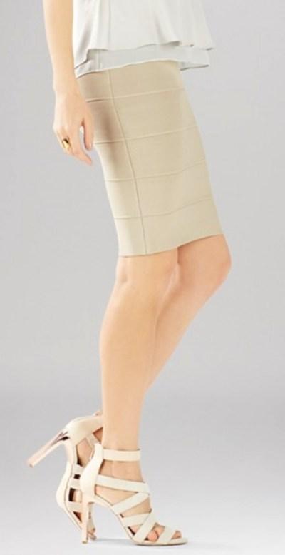 khaki-bandgade-sweater-skirt-strappy-heels