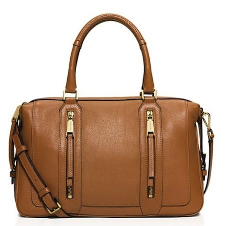 brown- satchel-hamdbag-zippers-michael-kors