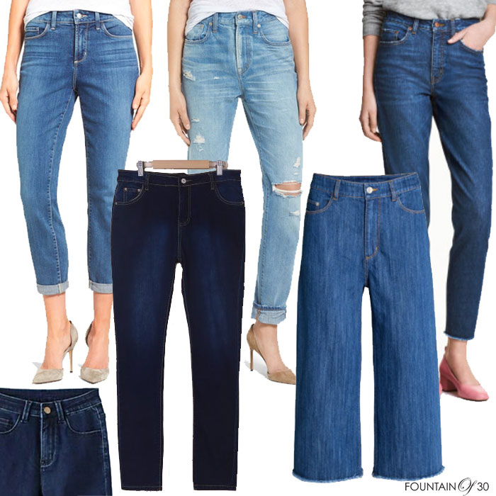 high waisted jeans 6 pairs on models