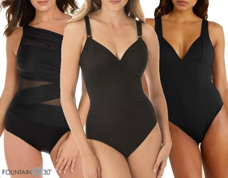 best black one-piece swimsuit fountainof30