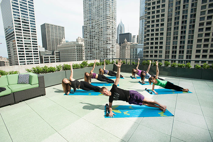 Exhale Rooftop Classes at Hotel Palomar Ian Custer