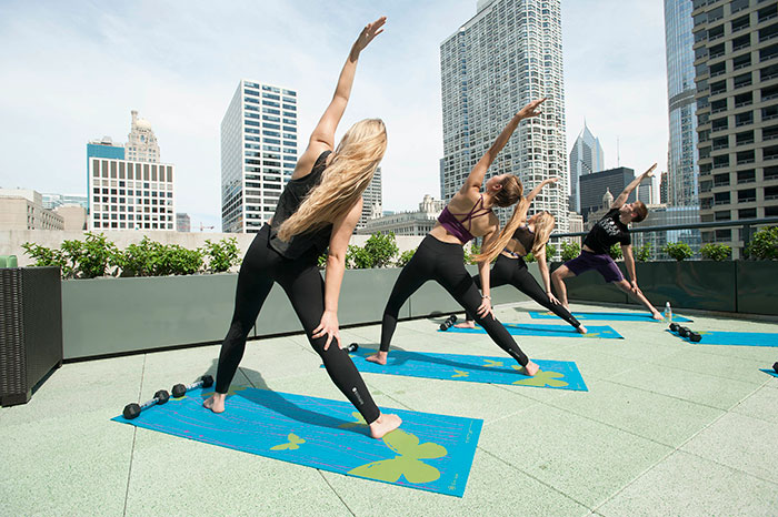 Exhale Rooftop Classes at Hotel Palomar