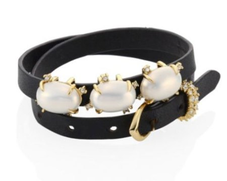 Olivia Palermo celebrity look for less cuf braclet