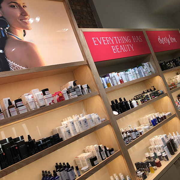 credo clean organic beauty chicago wall
