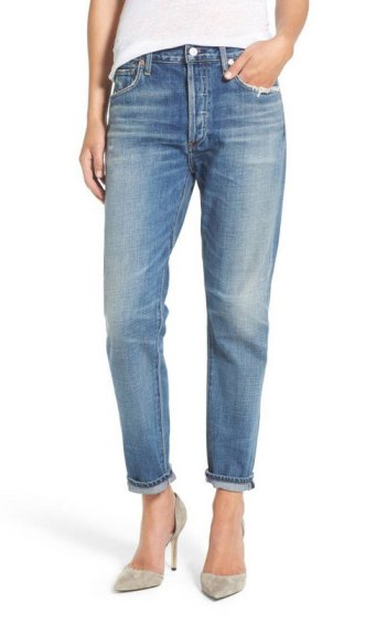7 jean styles women over 40 should have Slim Boyfriend Jeans