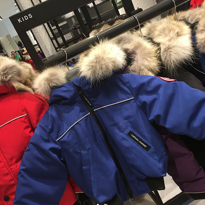 Canada Goose Chicago flagship kids coats
