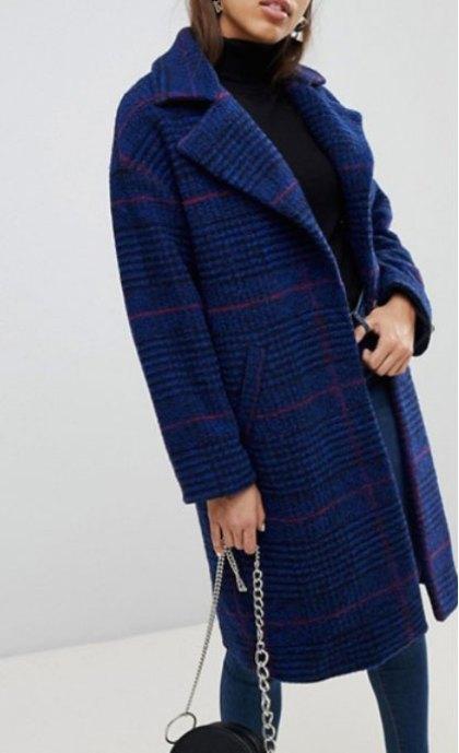 Mango Longline Check Coat Olivia Palermo Mixed Prints Look for Less
