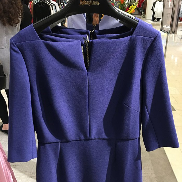 Roland Mouret dress detail Chicago Neiman Marcus 2018