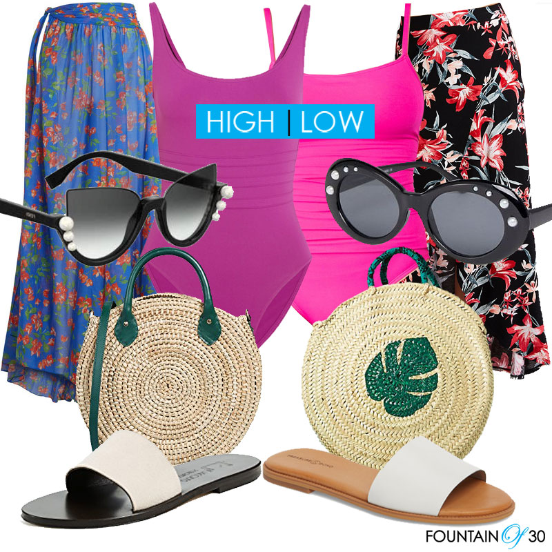 how to style high low swim