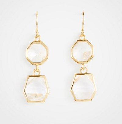 Penelope Cruz ruffle dress drop earrings