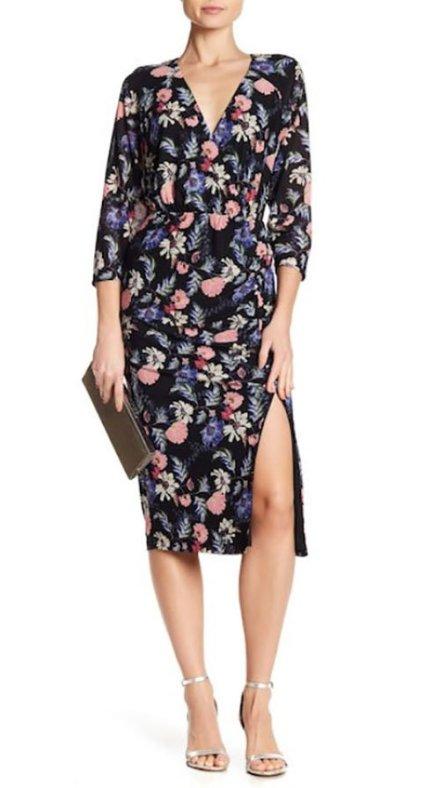 sarah jessica parker flirty floral rachel rachel roy dress
