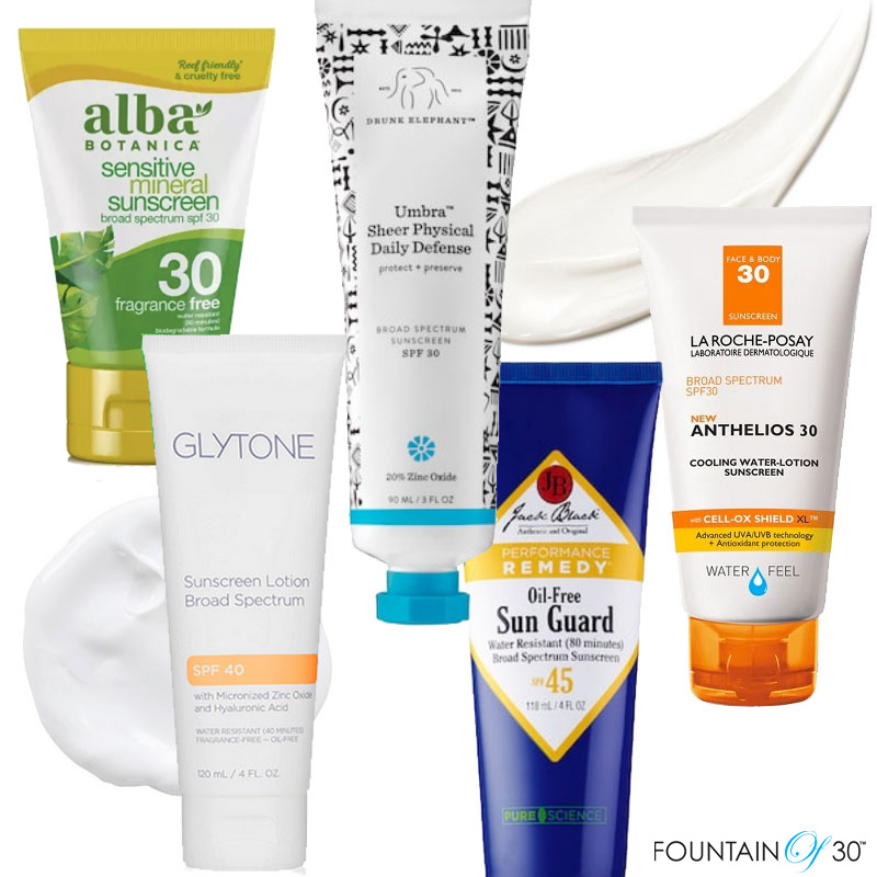 sunscreens for the family fountainof30