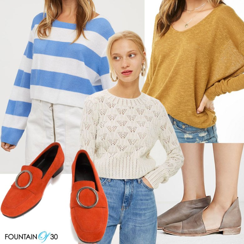 looks for less to wear now sweaters and shoes