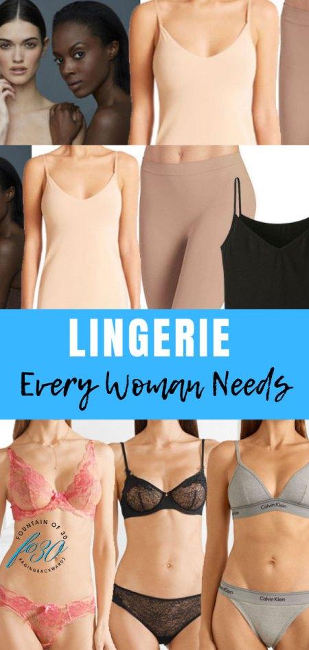 Lingerie Every Woman Needs FountainOf30