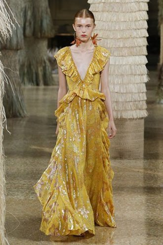 marigold yellow Ulla Johnson dress SS19