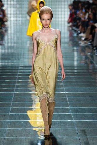 marigold yellow marc jacobs slip dress SS19