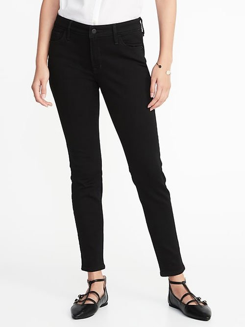 Meghan Markle Casual Style Black Skinny Jeans