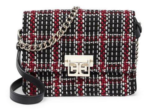 Meghan Markle Casual Style classic black white red plaid box Messenger Bag