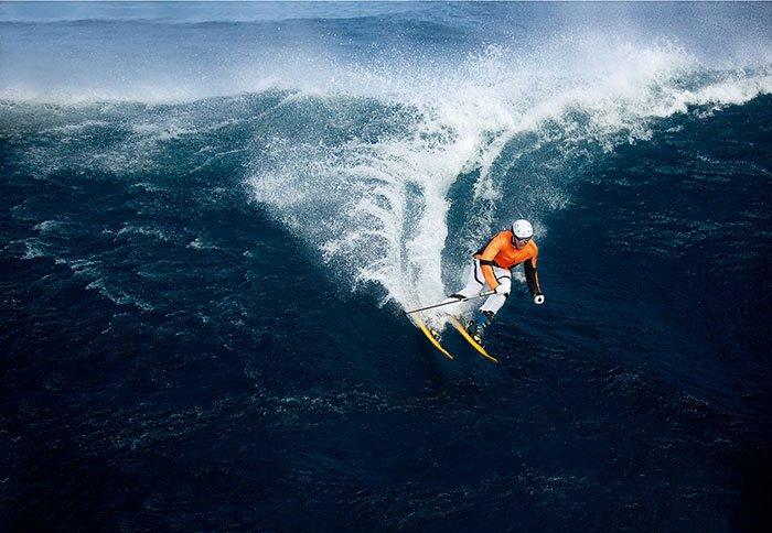 Bogner Sample Sale in Chicago man water ski blue wave
