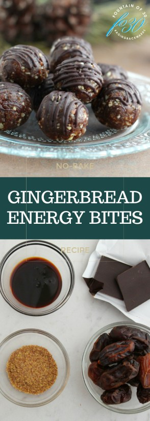 No-Bake Gingerbread Energy Bites