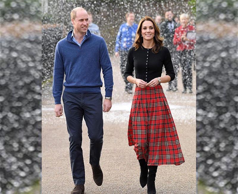 Kate Middleton Holiday Plaid