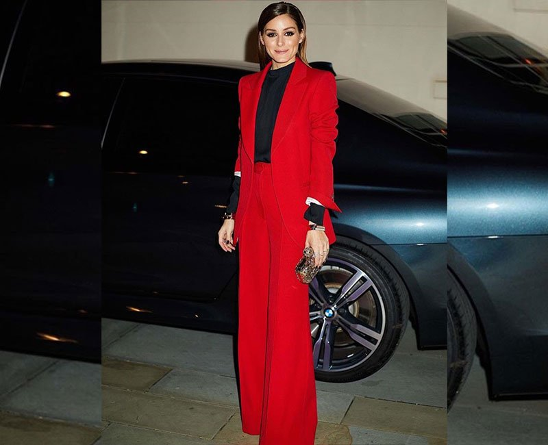 Bright Red Olivia Palermo Look